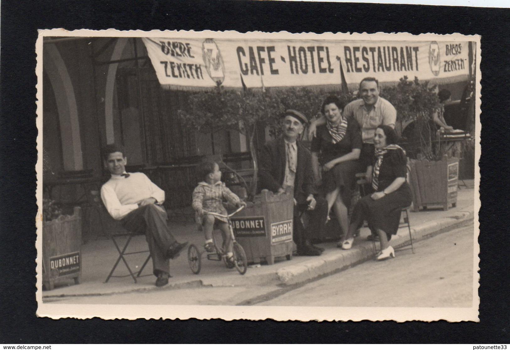 83 LA SEYNE SUR MER CARTE PHOTO DENTELEE CAFE HOTEL RESTAURANT CHEZ ANDREE TURCI BELLE ANIMATION CLICHE UNIQUE - La Seyne-sur-Mer