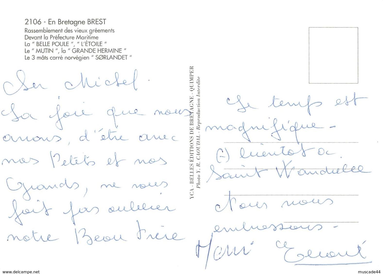 BREST - RASSEMBLEMENT DES VIEUX GREEMENTS - Brest