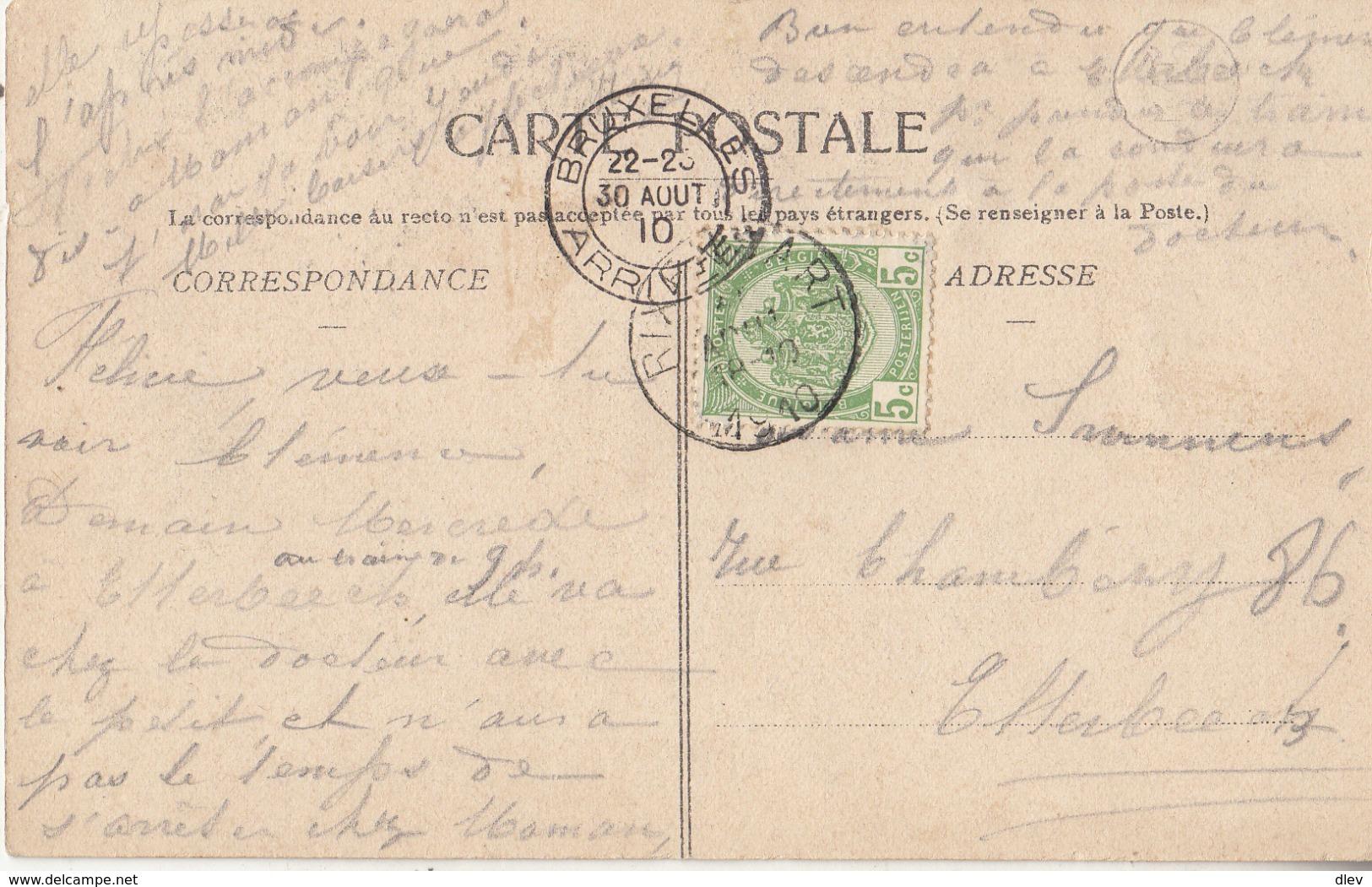 Bourgeois - Café De La Place - Animé - 1910 - Rixensart