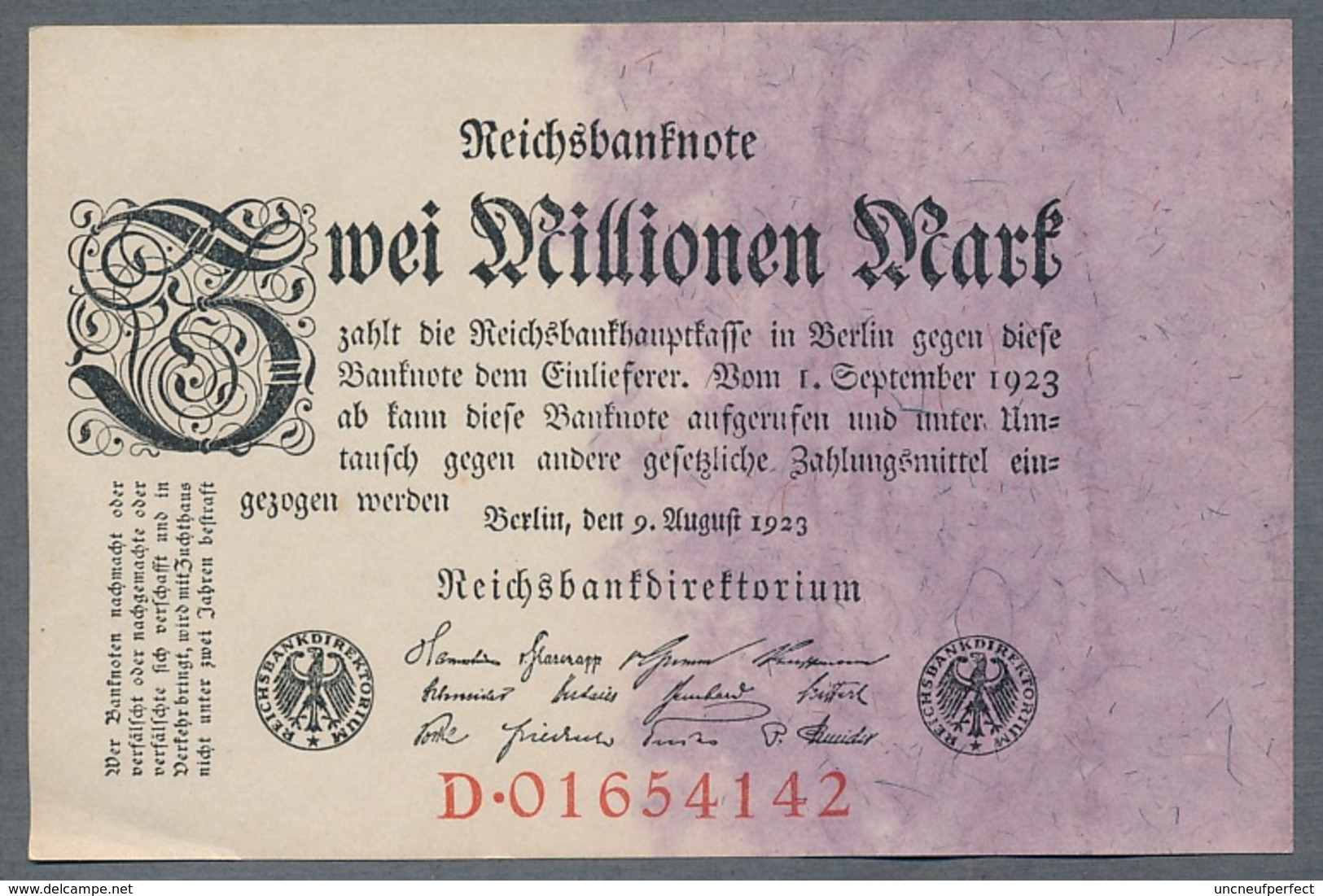 Pick104 Ro103a DEU-115a. 2 Million Mark 1923 AUNC - 2 Millionen Mark