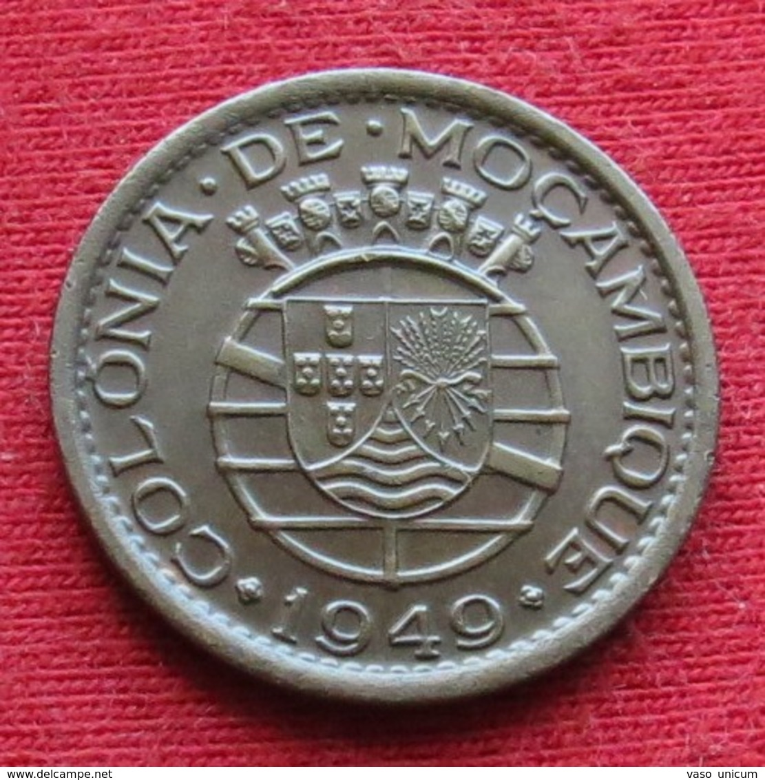 Mozambique 20 Centavos 1949 Mozambico Moçambique - Mozambique