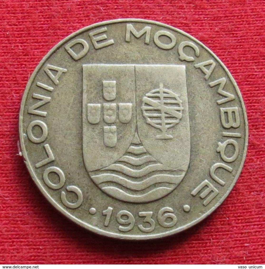 Mozambique 1 Escudo 1936 Mozambico Moçambique - Mozambique