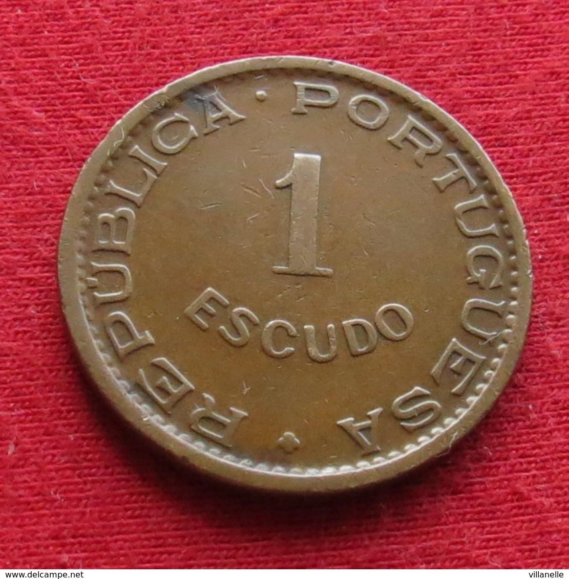 Mozambique 1 Escudo 1957 Mozambico Moçambique Wº - Mozambique