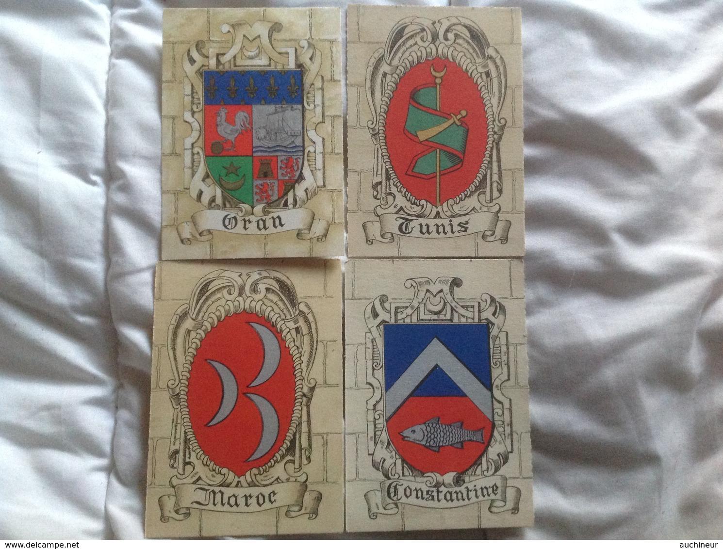 édition Barré & Dayez, Blason Afrique Du Nord Maroc Tunis Oran Constantine - Autres Illustrateurs