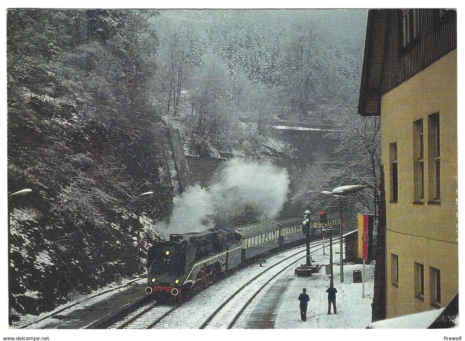 """Z02 - Railways Steam Train - Lok 18 201 Mit Historischen """"Rheingold"""" In Oberhof Mai 1984 - Eisenbahnen"""