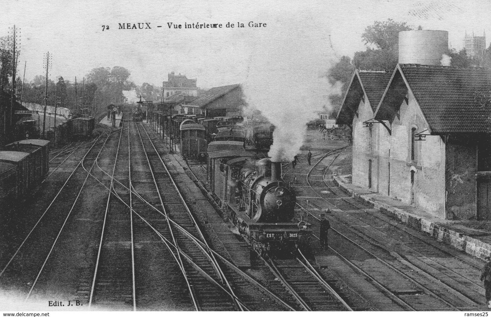 (121)  CPA  Meaux  Interieure De La Gare   (Bon état) - Meaux