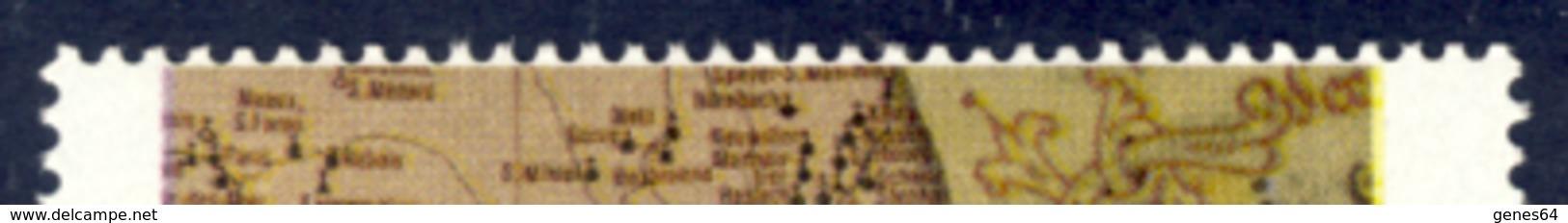 Lotto Di 3 Varieta' Con Dentellatura Spostata A Filo Di Immagini E Scritte - Nuovi MNH**- 4 Immagini - 6. 1946-.. República
