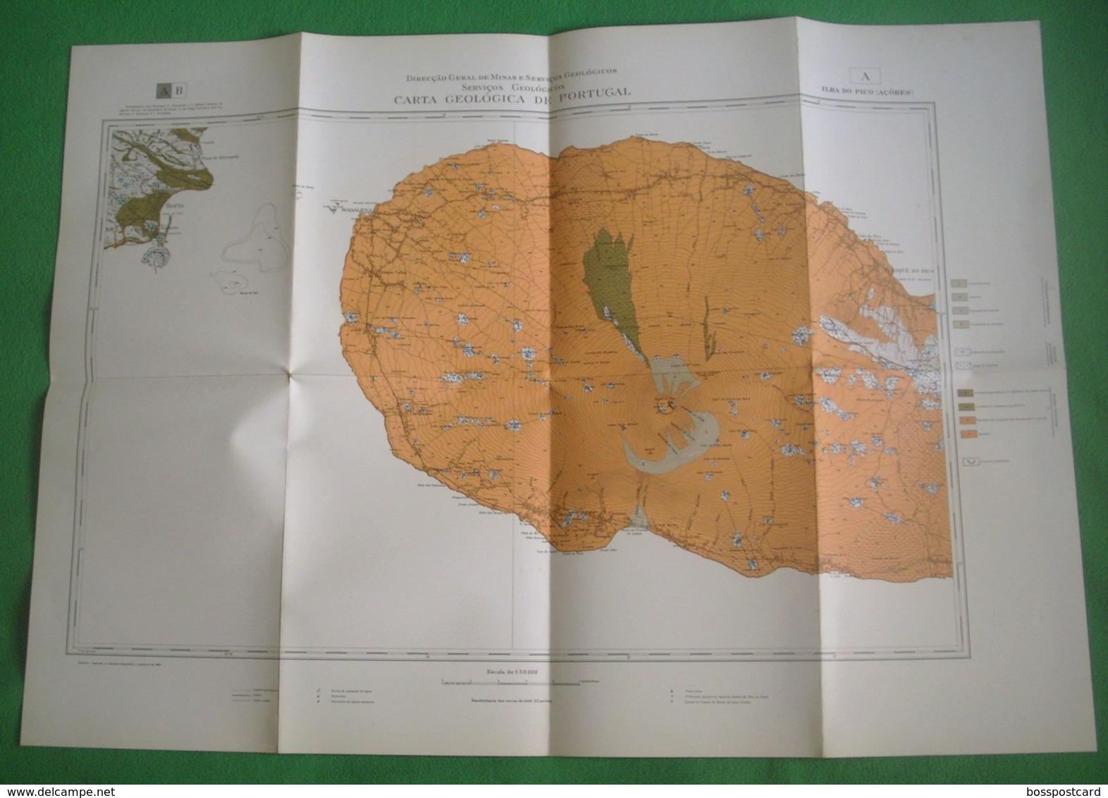 Pico - Carta Geológica De Portugal + Mapa (A) - Açores - Geographical Maps