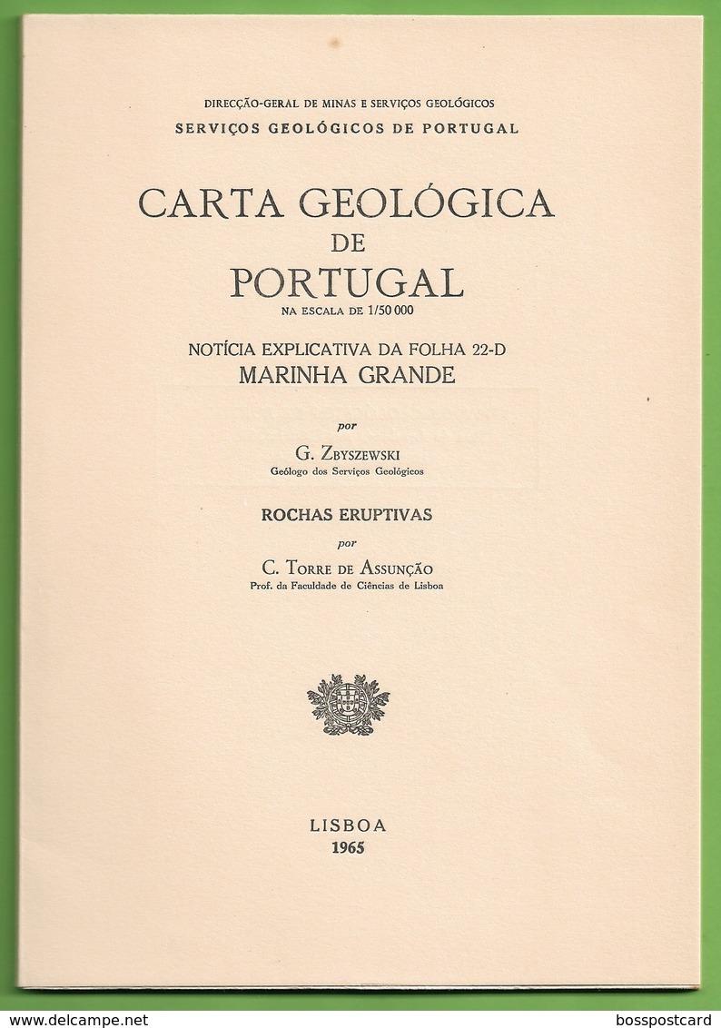 Marinha Grande - Carta Geológica De Portugal + Mapa. Leiria. - Geographical Maps