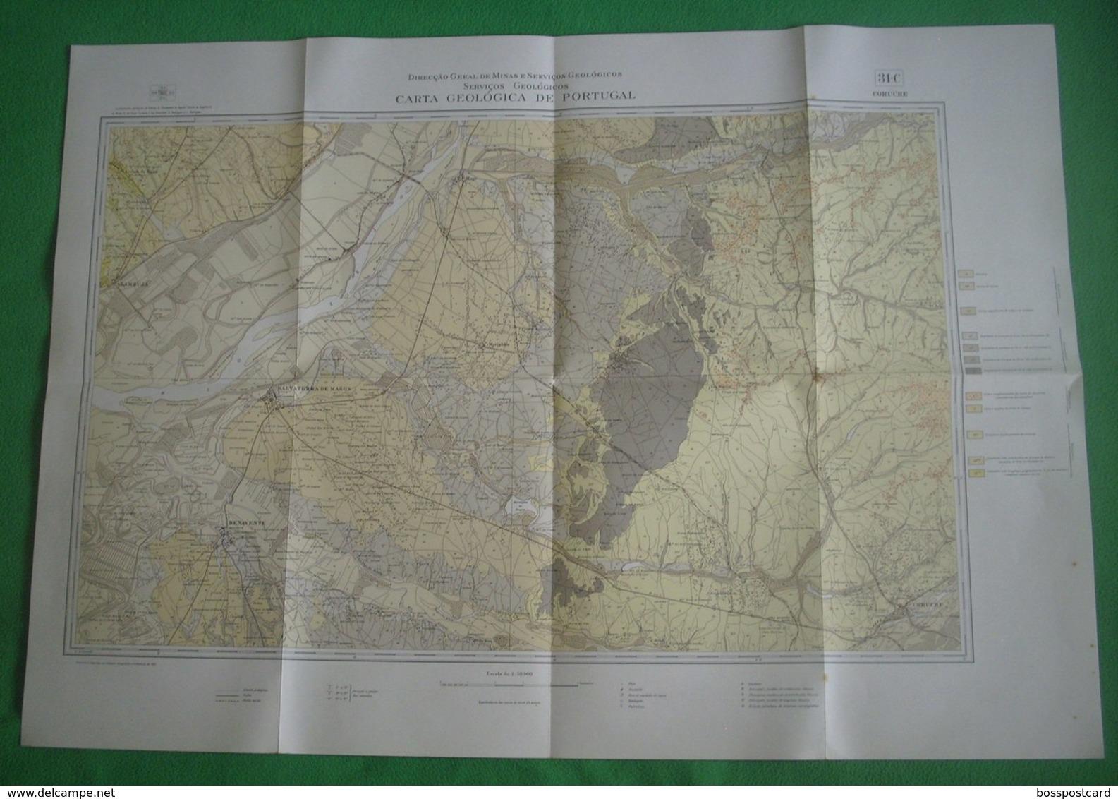 Coruche - Carta Geológica De Portugal + Mapa. Santarém. - Geographical Maps