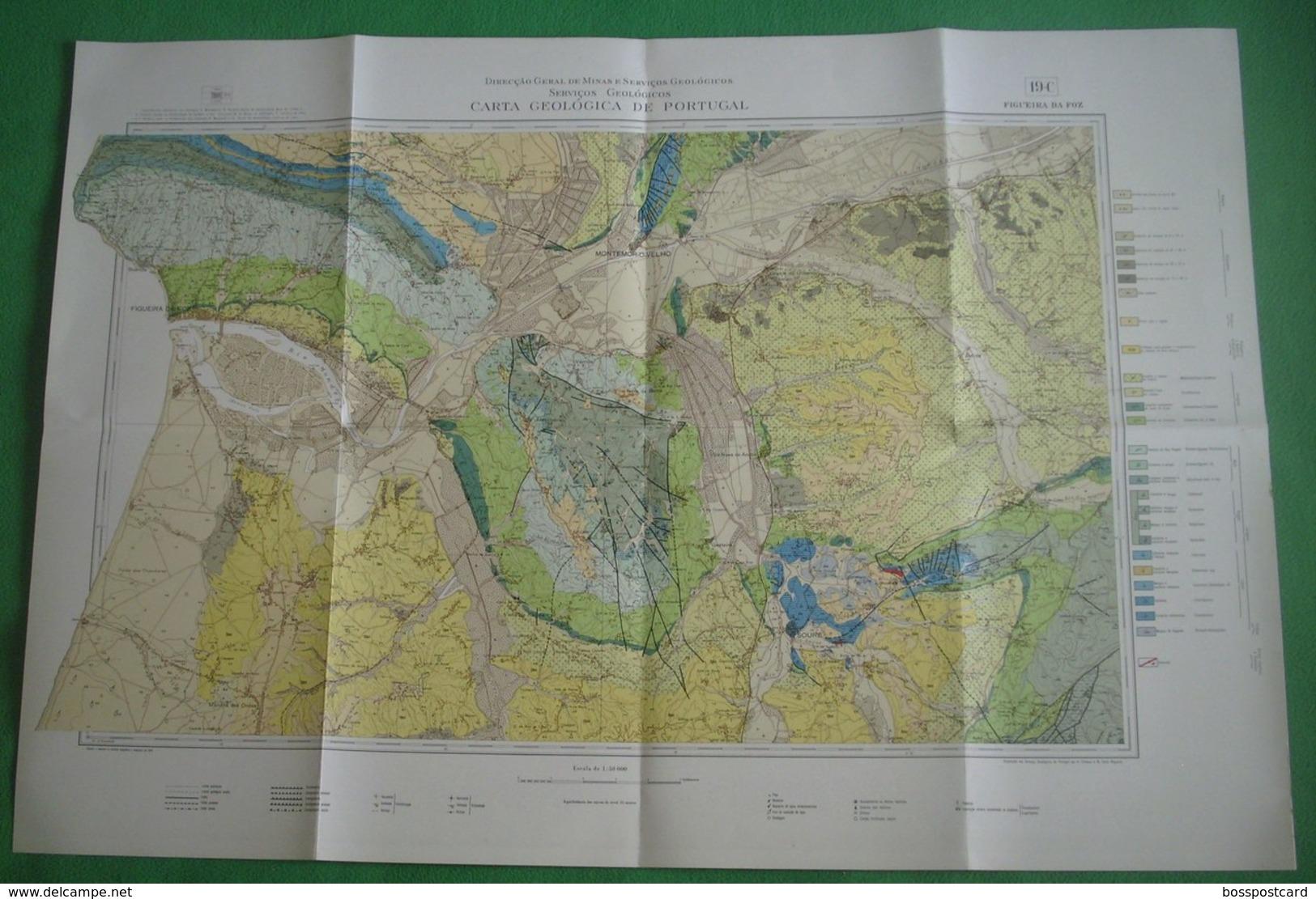 Figueira Da Foz - Carta Geológica De Portugal + Mapa. Coimbra. - Geographical Maps
