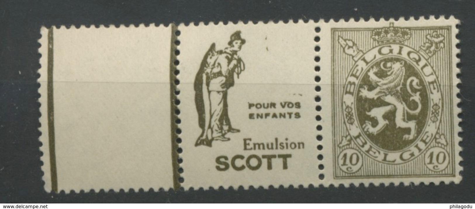 1929   10c LION Pubs Peche Poisson Huile De Foie De Morue **    SUPERBE - Alimentation