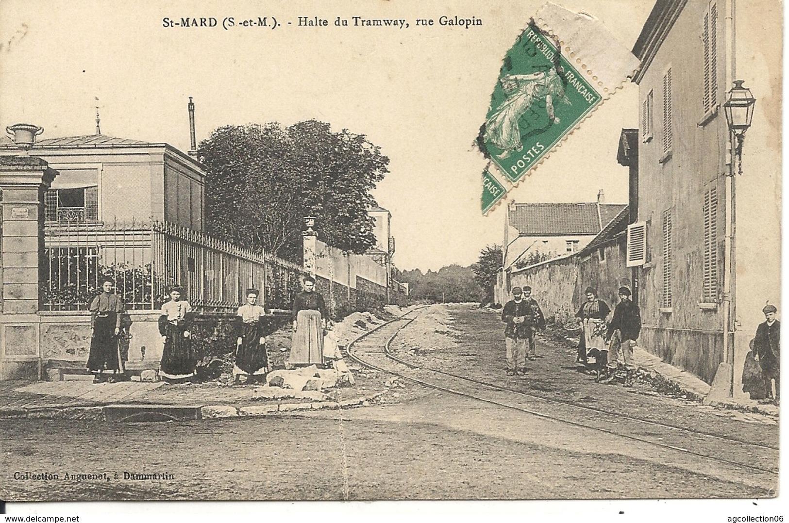 SAINT MARD. HALTE DU TRAMWAY. RUE GALOPIN - France