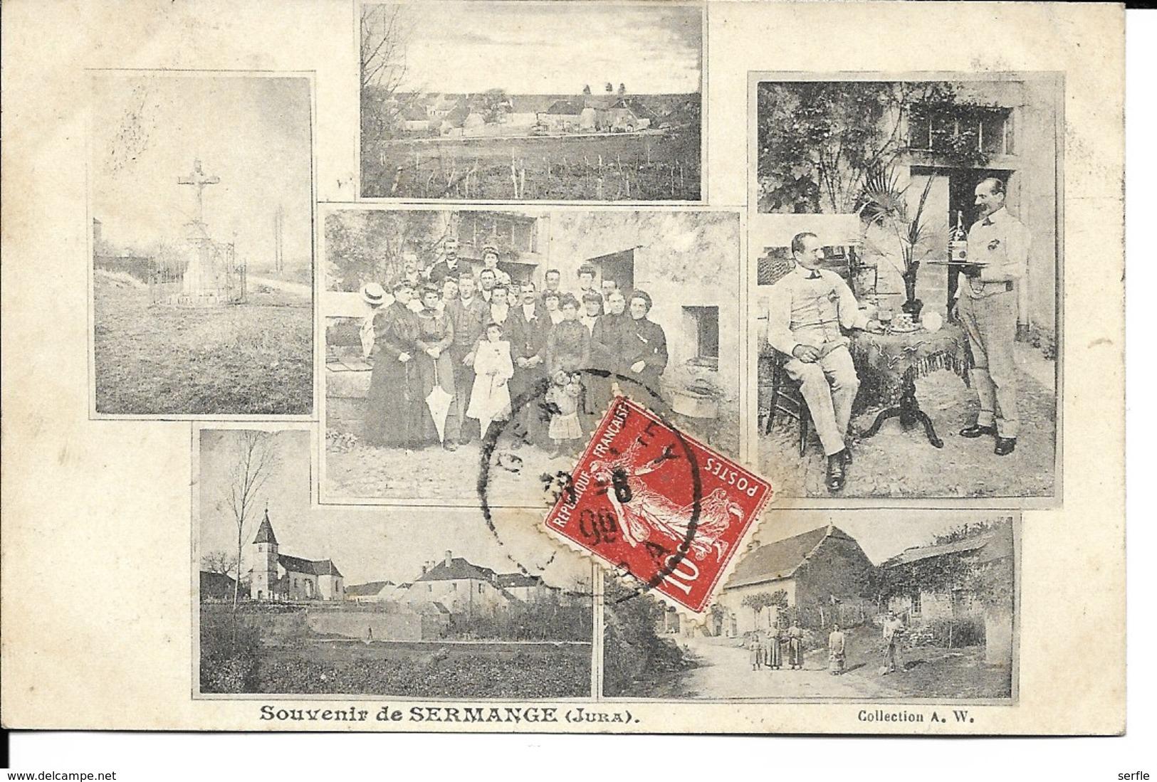 39 - Sermange - Souvenir - Carte Multivues - Autres Communes