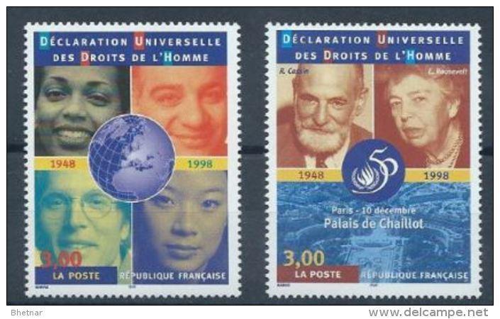 "FR YT 3208 & 3209 "" Droits De L'Homme "" 1998 Neuf** - Neufs"