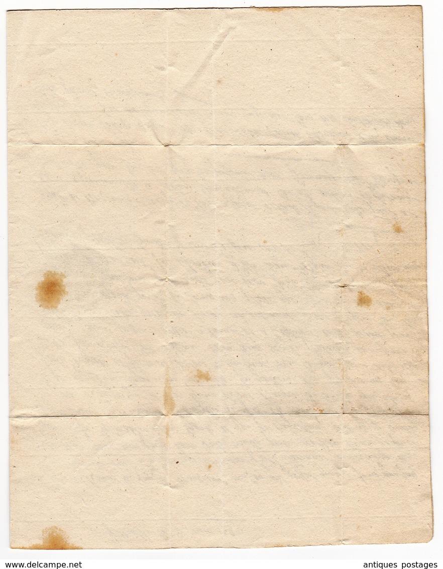 Lettre 1783 Grenoble Isère Dauphiné Largentière Ardèche Vivarais Fontaine De Logères Comte De Biron - Marcophilie (Lettres)