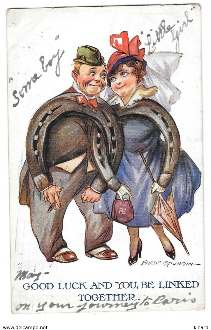 CPA. ILLUSTRATEUR.... FRED SPURGIN...GOOD LUCK AND YOU , BE LINKED TOGETHER..  1917..  TBE..SCAN - Spurgin, Fred