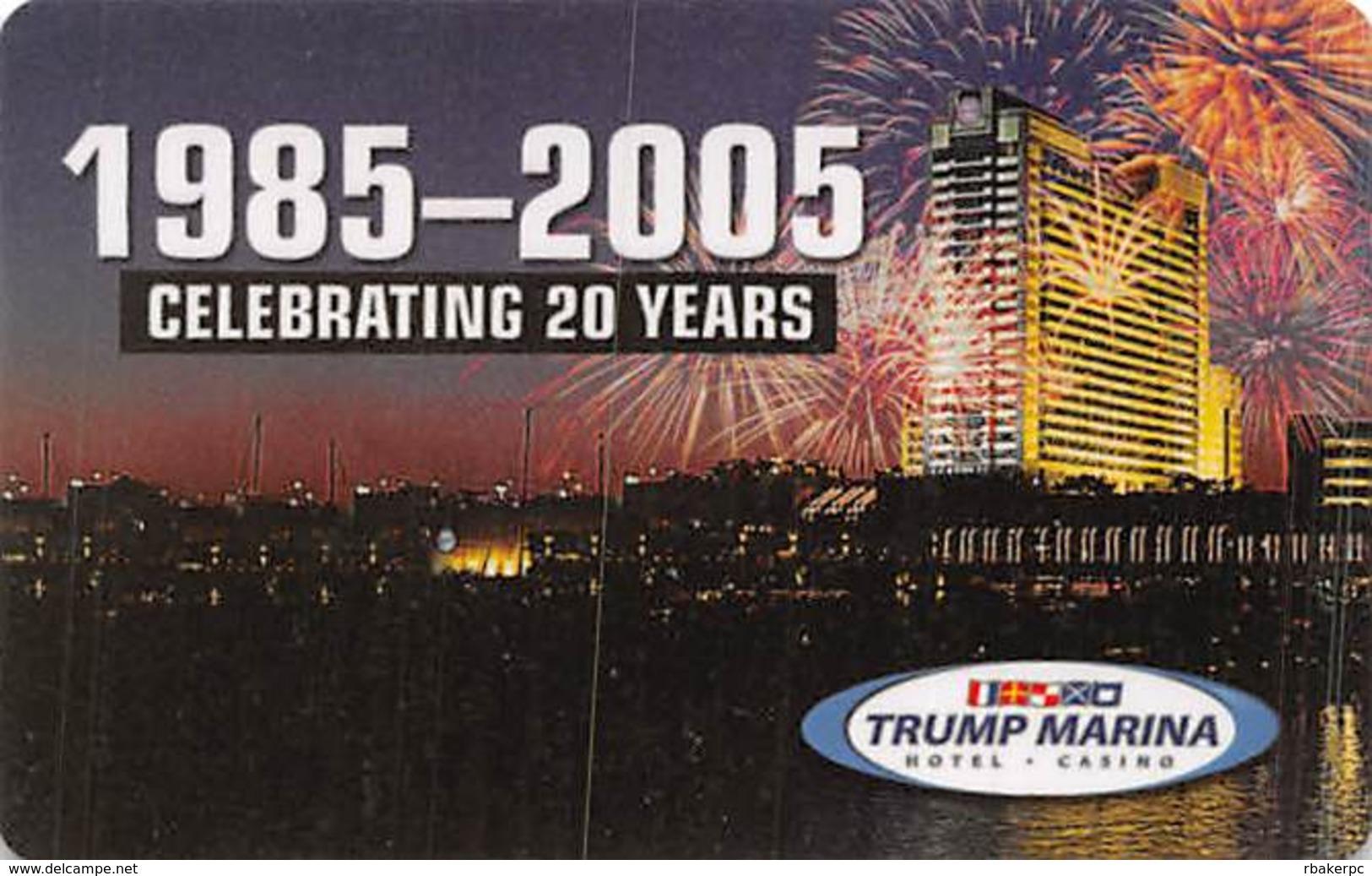 Trump Marina Casino Atlantic City NJ - BLANK Slot Card - Casinokaarten