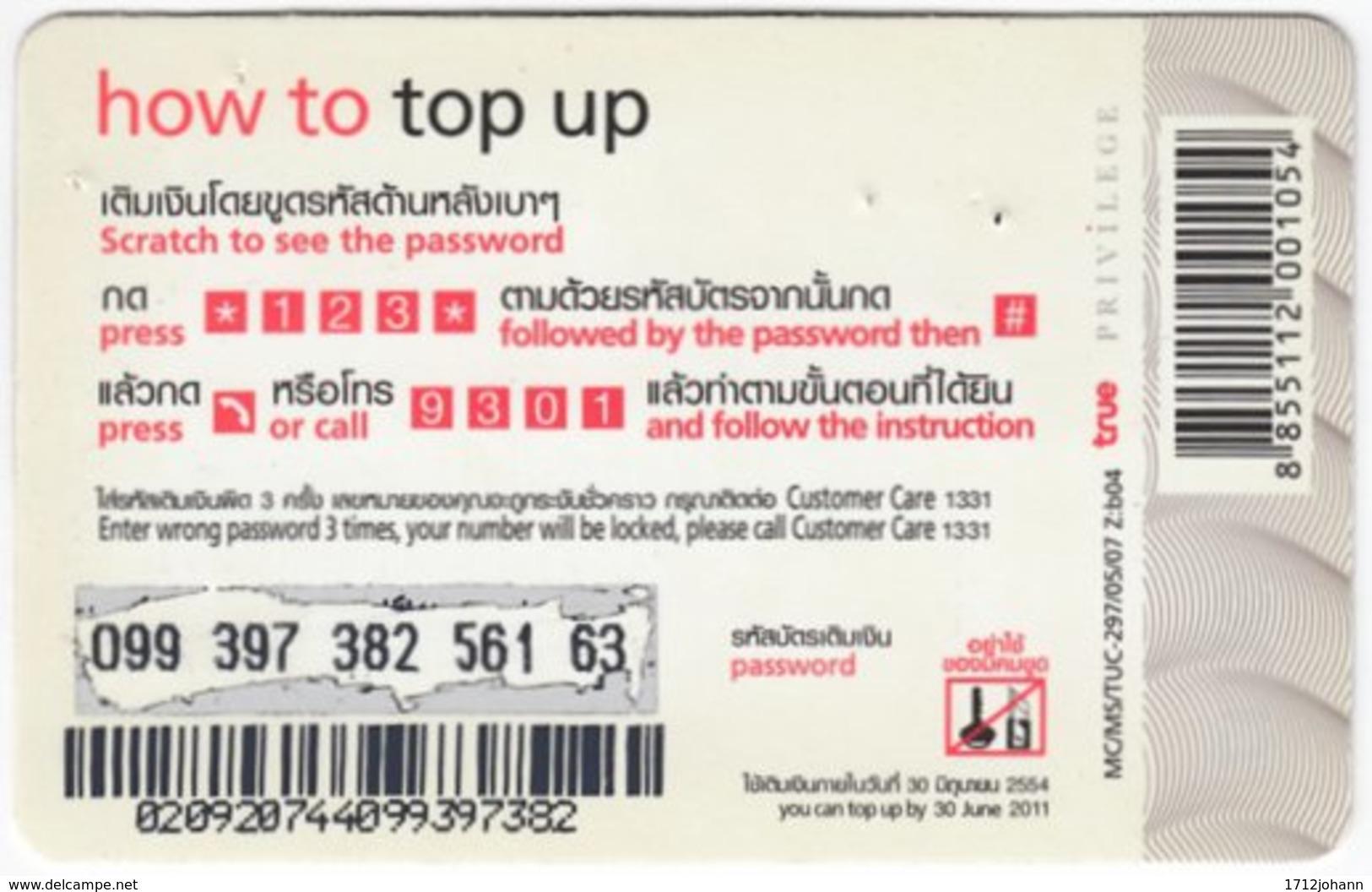 THAILAND E-990 Prepaid TrueMove - Plant, Flower - Used - Thaïland