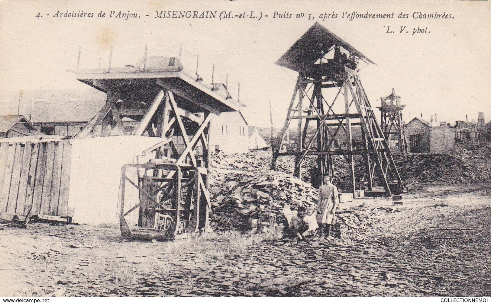 MISENGRAIN Ardoisiéres De L'ANJOU,puits N° 5 Apres L'effondrement Des Chambrées,( Lot 18) - France