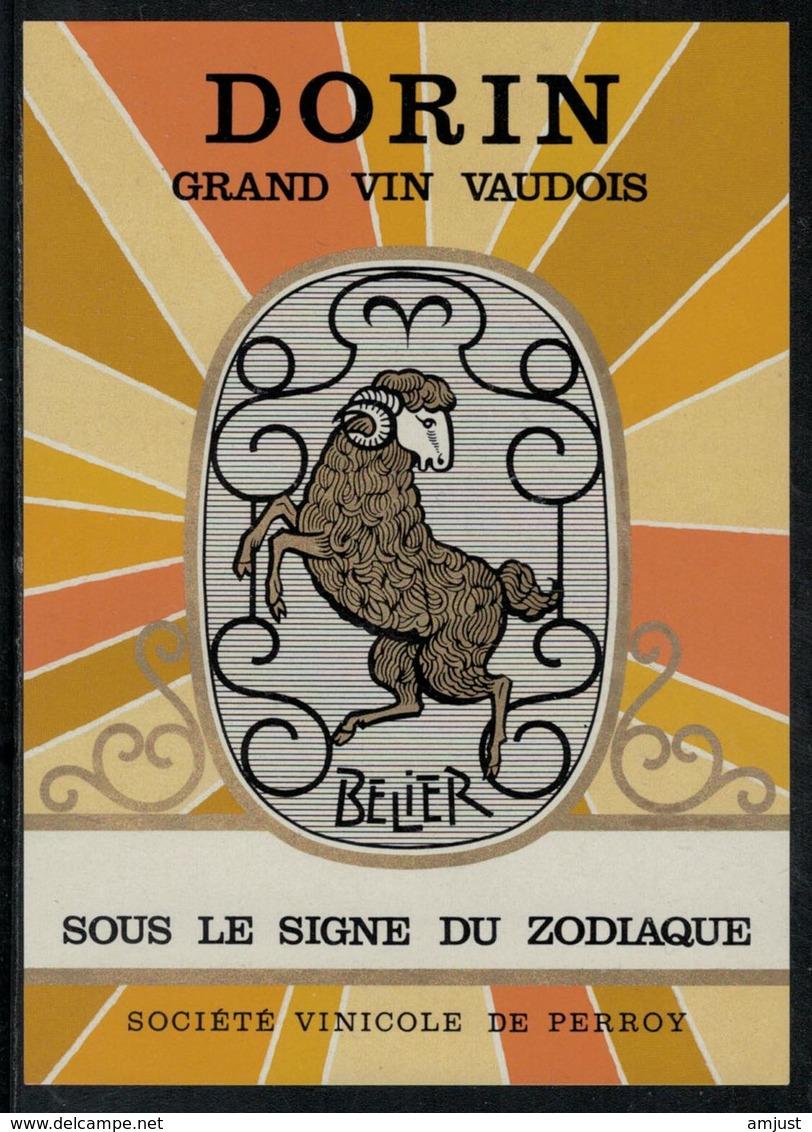 """Etiquette De Vin // Dorin, Signe Du Zodiac """"Le Bélier"""" - Etiquettes"""