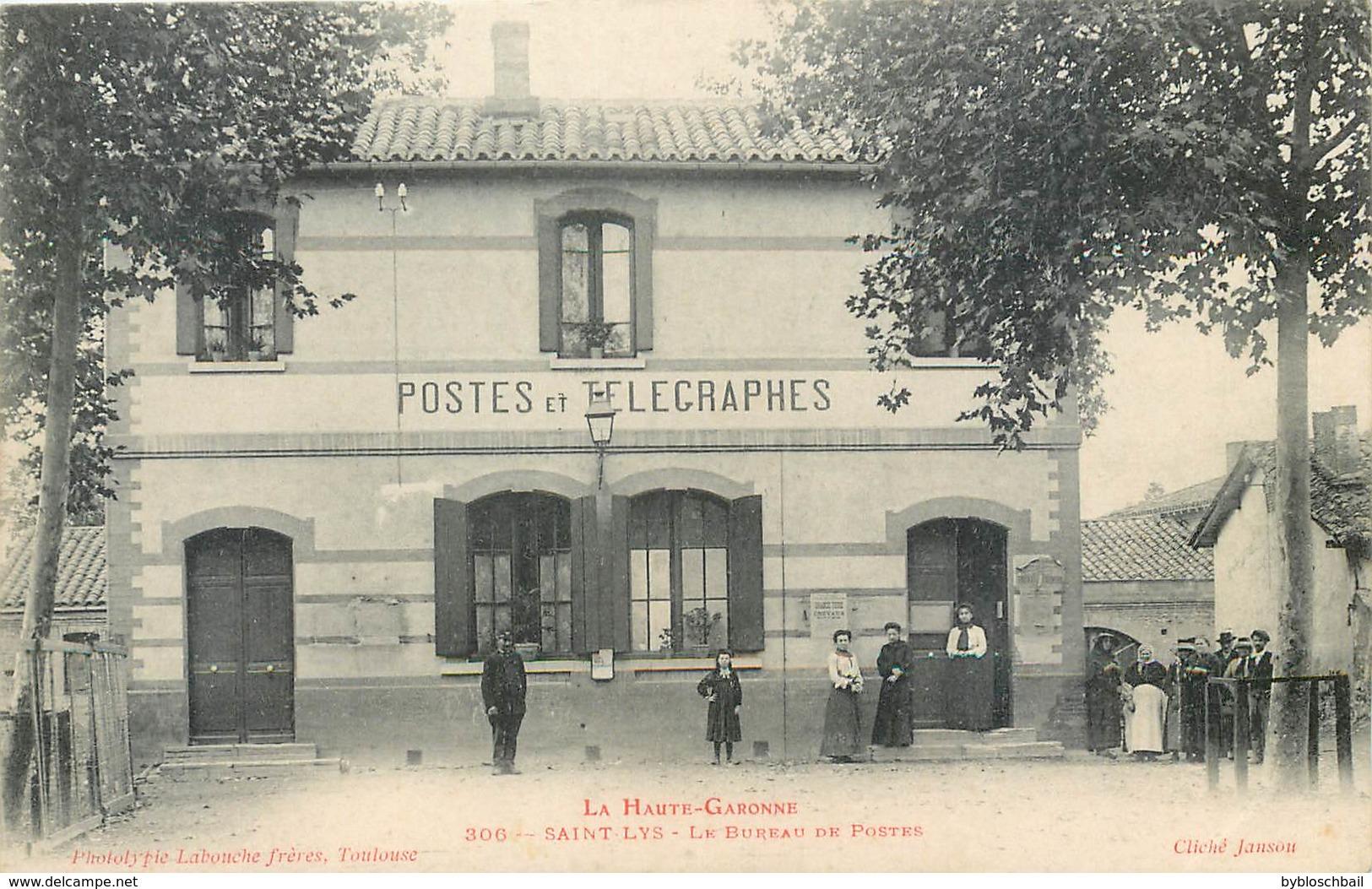 CPA 31 Haute Garonne St Saint Lys Le Bureau De Postes Des Et Télégraphes Non Circulée - Francia