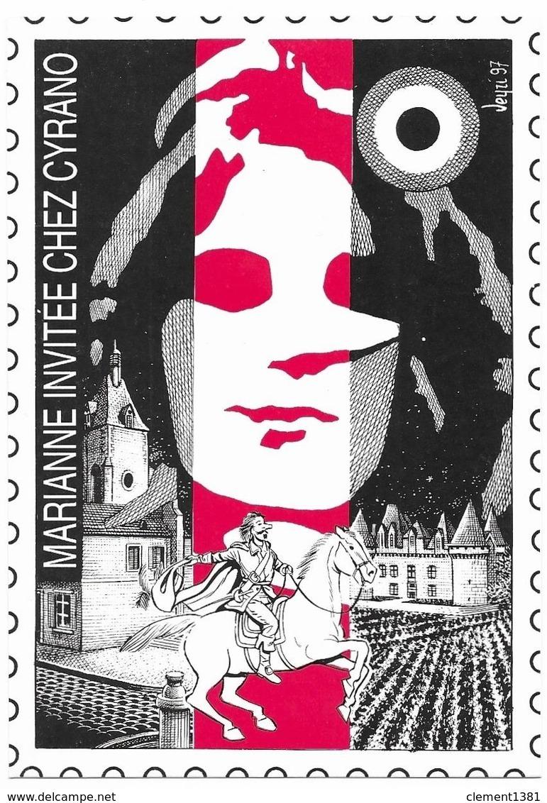 Illustrateur Bernard Veyri Caricature Bergerac Marianne Invitée Chez Cyrano - Veyri, Bernard