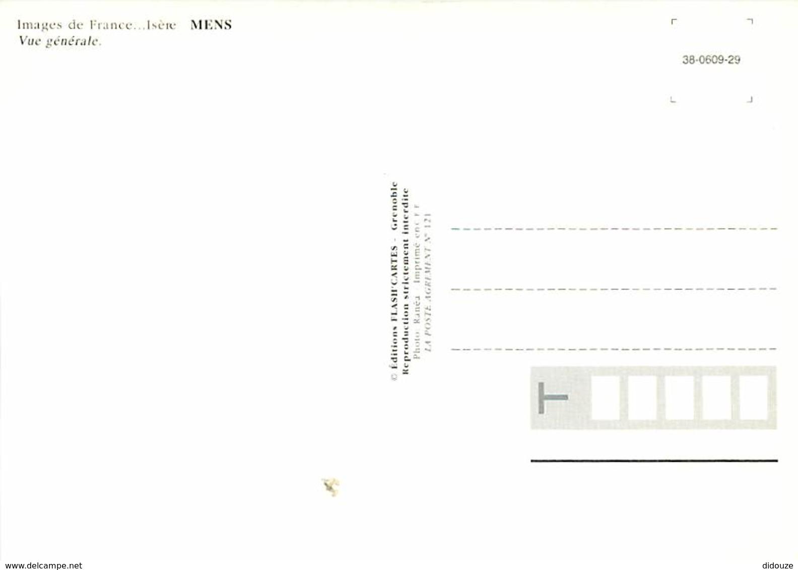 38 - Mens - Vue Générale - Carte Neuve - Voir Scans Recto-Verso - Mens