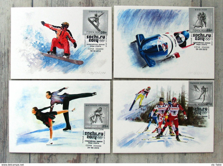 Russia RUSIA RUSSIE RUSSLAND Sochi 2014 Maximum Cards 4 Items Olympic Winter Games - Maximum Cards