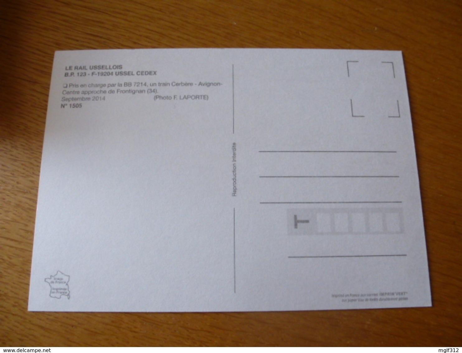 FRONTIGNAN (34) : BB 7214 Train CERBERE - AVIGNON En Septembre 2014 - Détails 2ème Scan - Trains