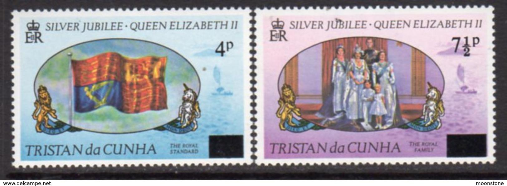 Tristan Da Cunha 1978 Provisional Surcharges Set Of 2, MNH, SG 232/3 - Tristan Da Cunha