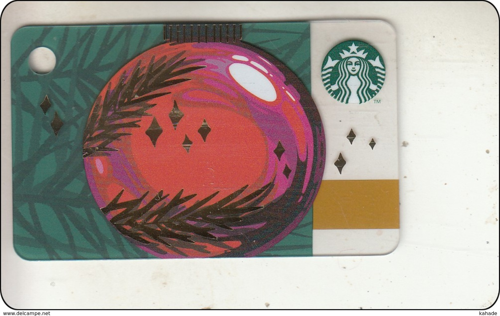 Thailand Starbucks Card Christmas Ball Mini 2018 - 6156 - Gift Cards