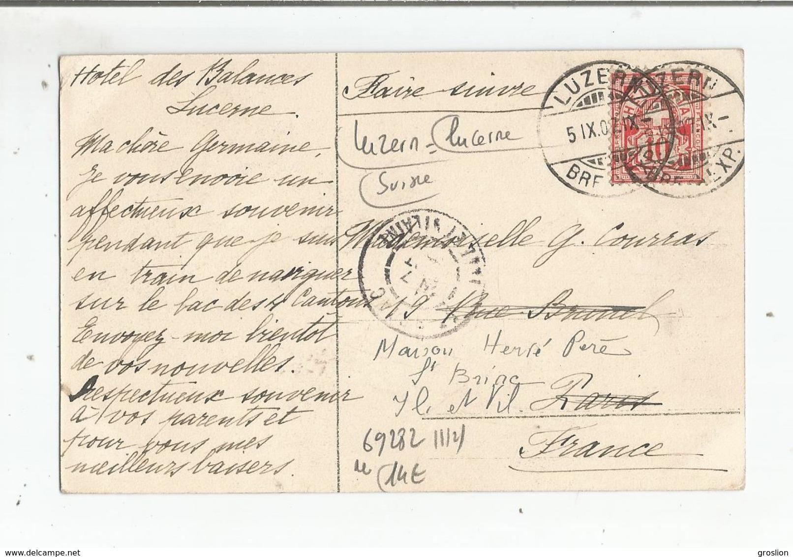 LUZERN KAPELLGASSE 1907 - LU Luzern