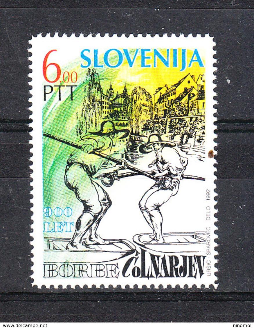 Slovenia   -  1992. Folklore. Battellieri Di Lubiana. Boatmen Of Ljubljana. MNH - Altri