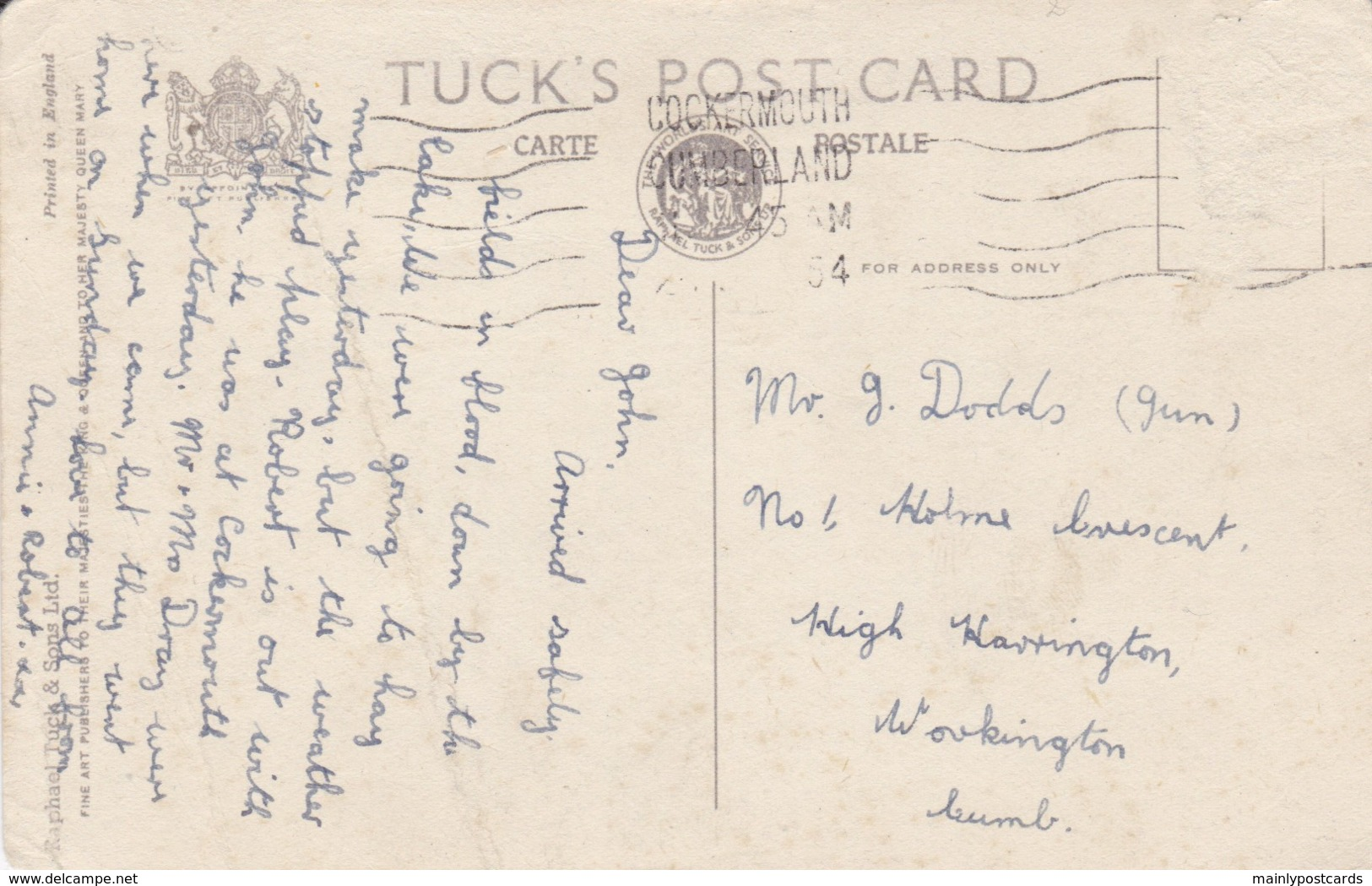AQ49 Buttermere And High Crag - Tuck Postcard - Cumberland/ Westmorland