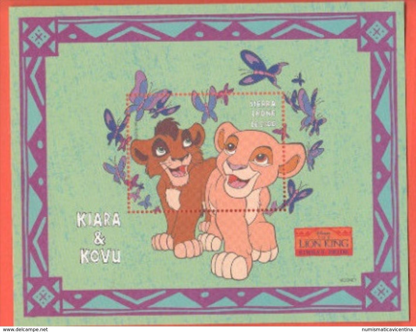 Disney SIERRA LEONE Kiara & Kovu Lion King Series 2500 LE SHEET MNH - Disney