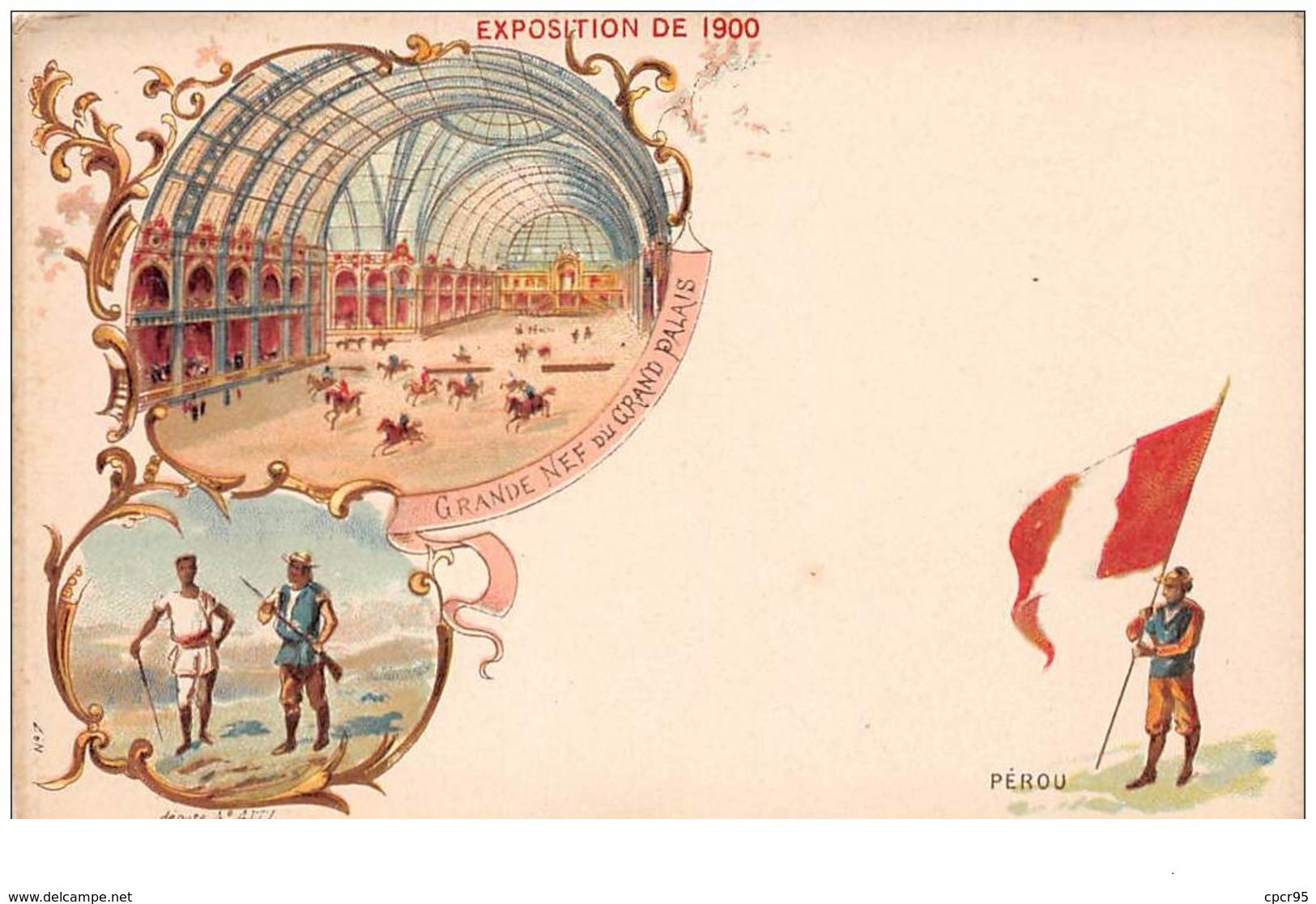 Perou. N° 47724. Exposition De 1900 . Drapeau .  Cp Pub . Illustrateur - Peru