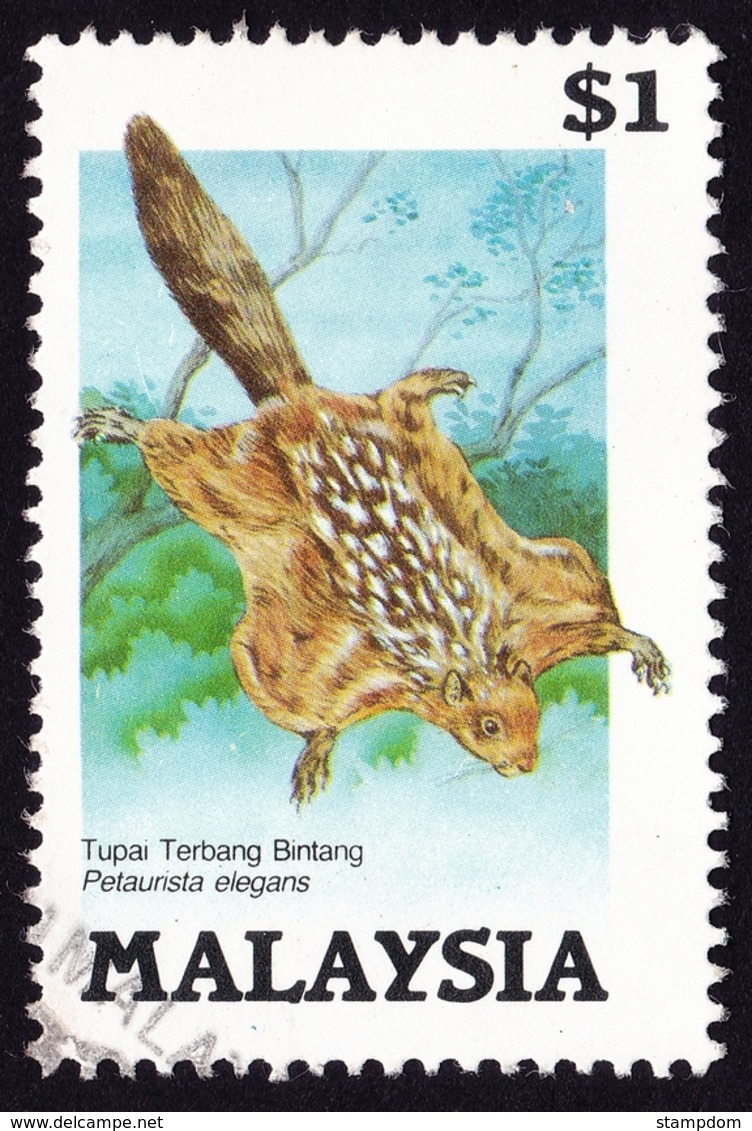 MALAYSIA 1985 Protected Animals Petaunsta Elegans $1 Sc#298 - USED @PM093 - Malesia (1964-...)