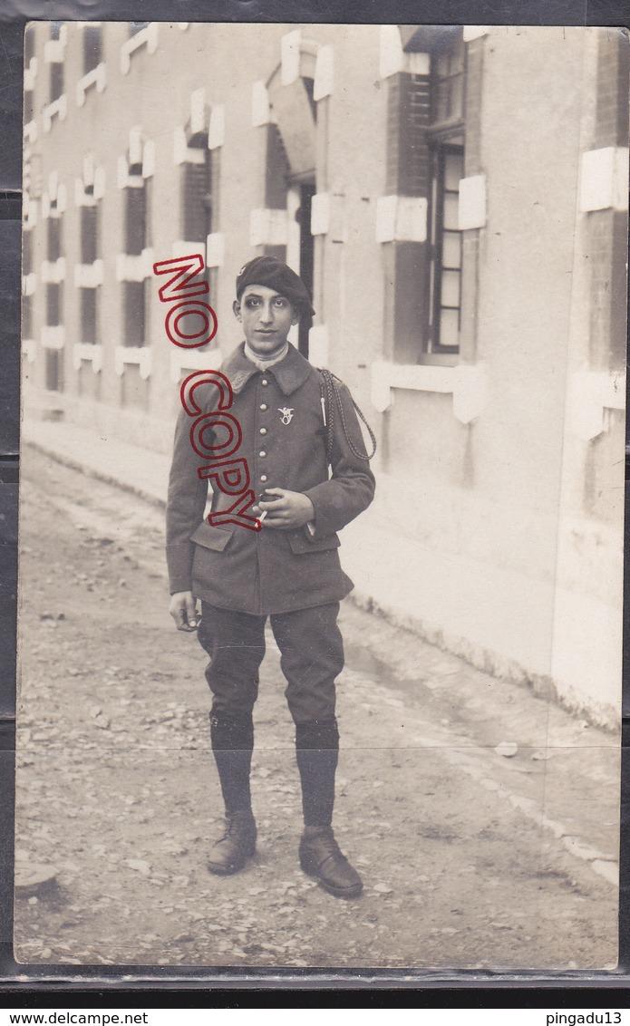 Au Plus Rapide Carte Photo Un Cocard Pour Le Chasseur Alpin Du 25 ème Bataillon 25è BCA - Regiments
