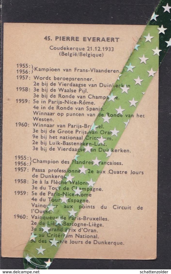 Chromo Wielrenner Pierre Everaert, Coudekerque, 21.12.1933 - Vieux Papiers