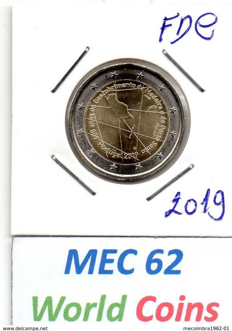 MEC62 - PORTUGAL 2 EUROS 2019 400 ANOS DOS DESCOBRIMENTOS DA MADEIRA E PORTO SANTO / FDC - Portugal