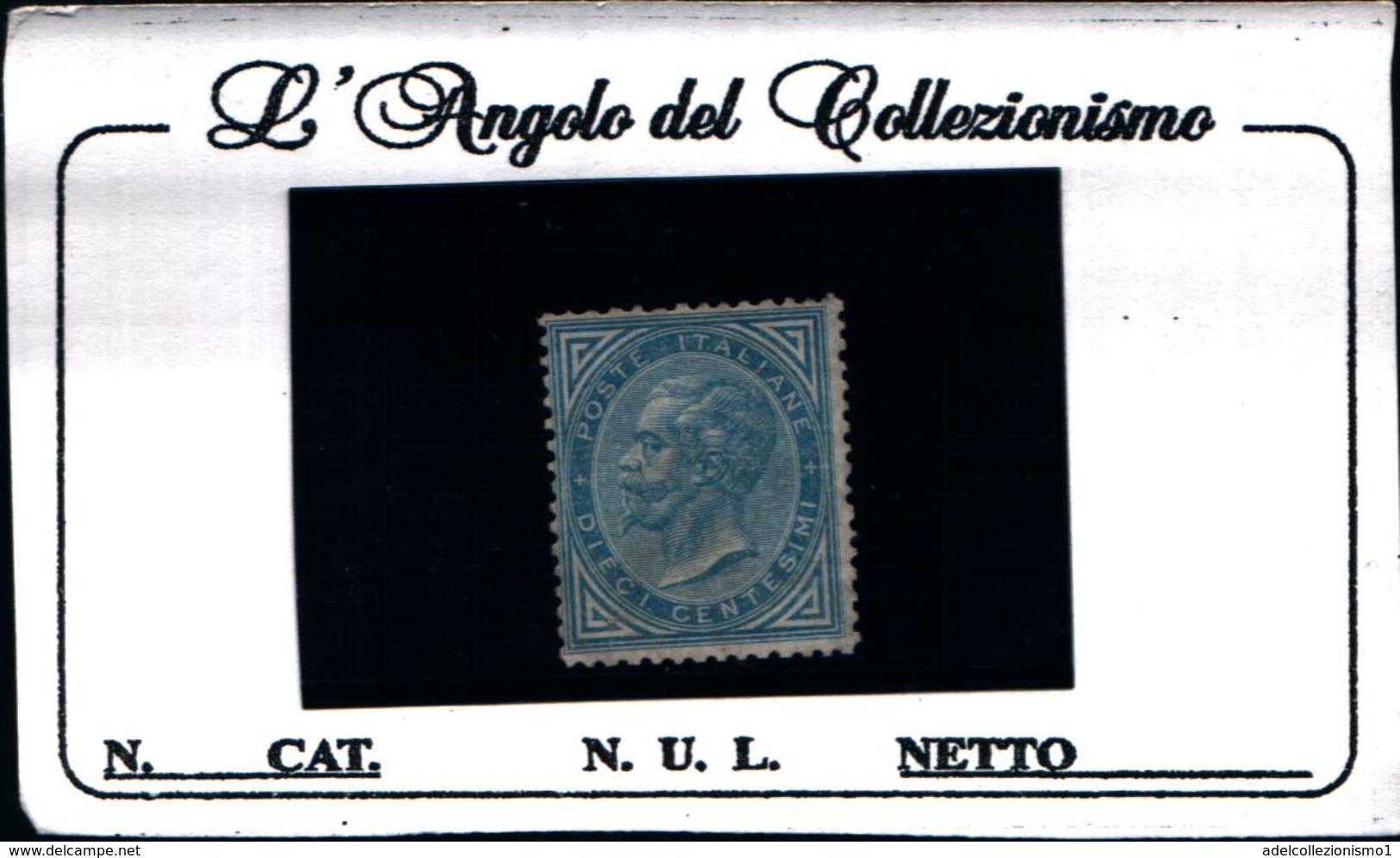 6279B) ITALIA-10 C. Effigie Di Vittorio Emanuele II Entro Un Ovale-1 Agosto 1877 -MNH** - Nuovi