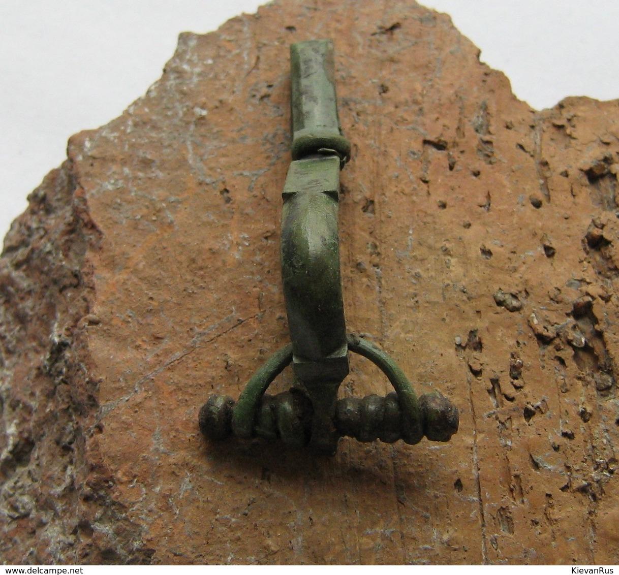 Ancient Roman Bronze Fibula Brooch 3-4 Century - Archéologie