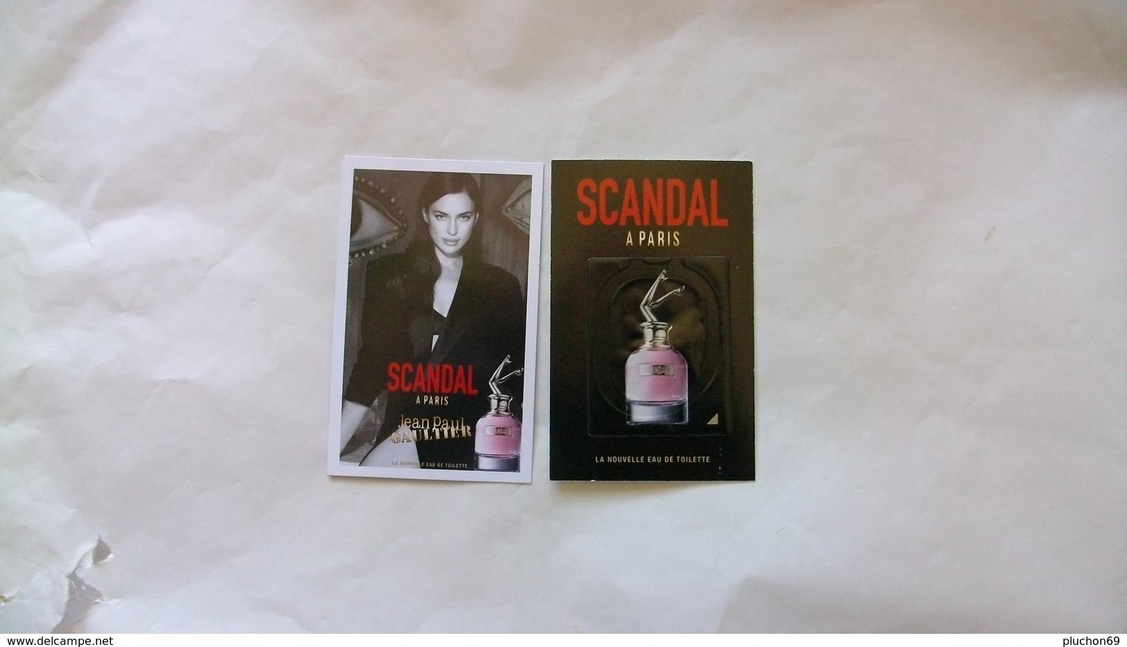 Carte Parfumée Gaultier Scandal  Avec Touch (nouveauté Fetes Des Mères 2019) - Perfume Cards