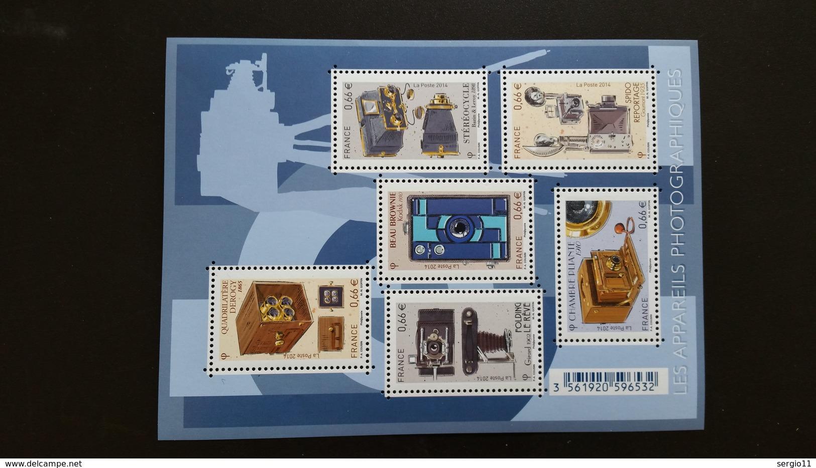 France Timbres Bloc-feuillet  NEUF N° F4916 - Les Appareils Photographiques - Année 2014 - Sheetlets