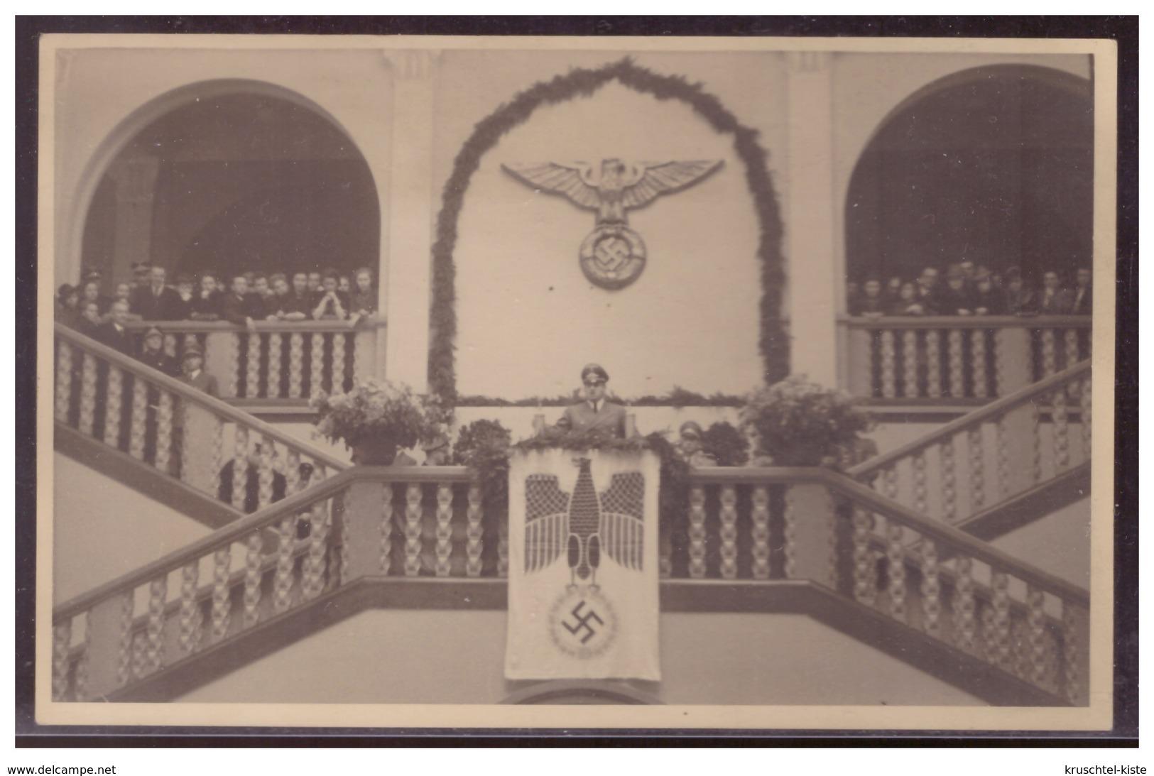 GG (w00037) Propaganda Foto- AK Hans Frank, Während Einer Rede I.d. Bergbau-Fakultät Universität Krakau, Um 1941, Ungel - Occupation 1938-45