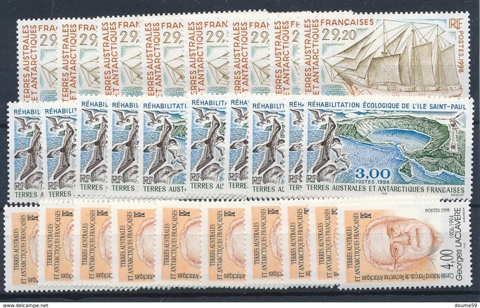 DA-2: TAAF: Lot Stock** Avec N°230(8)-231(10)-232(10) - Terres Australes Et Antarctiques Françaises (TAAF)