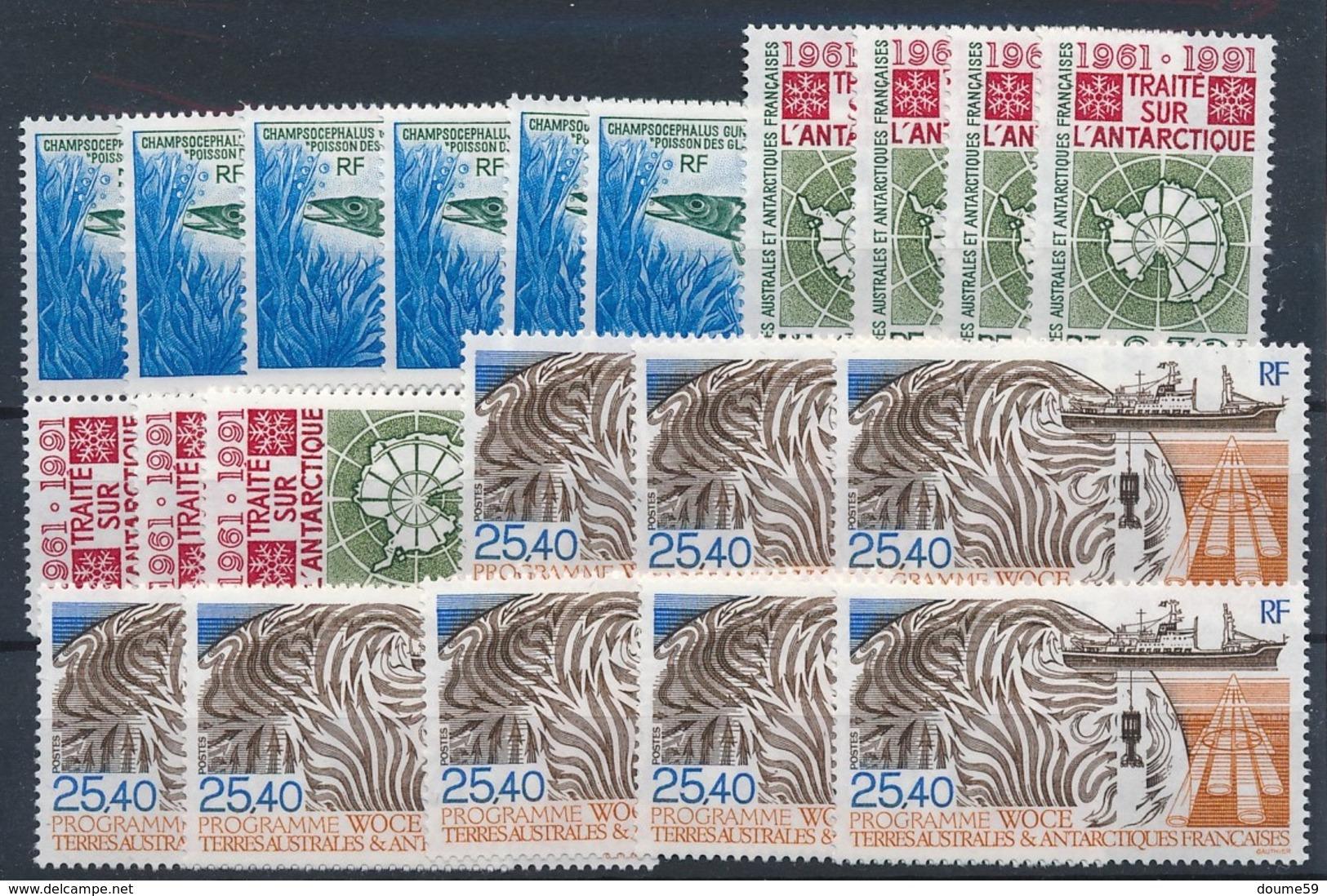 DA-5: TAAF: Lot Stock** Avec N°161(6)-162(7)-170(8) - Terres Australes Et Antarctiques Françaises (TAAF)