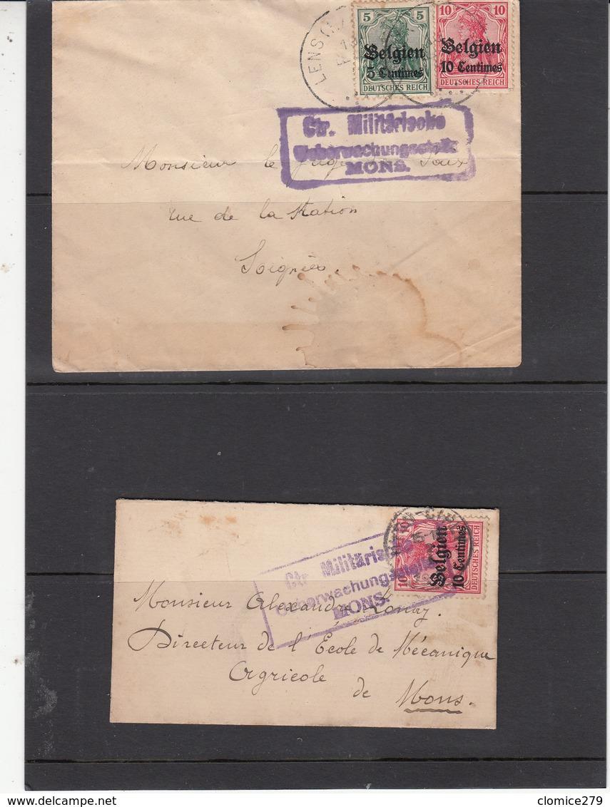 Belgique   2 Envlp      Guerre 1914/18 - [OC1/25] General Gov.