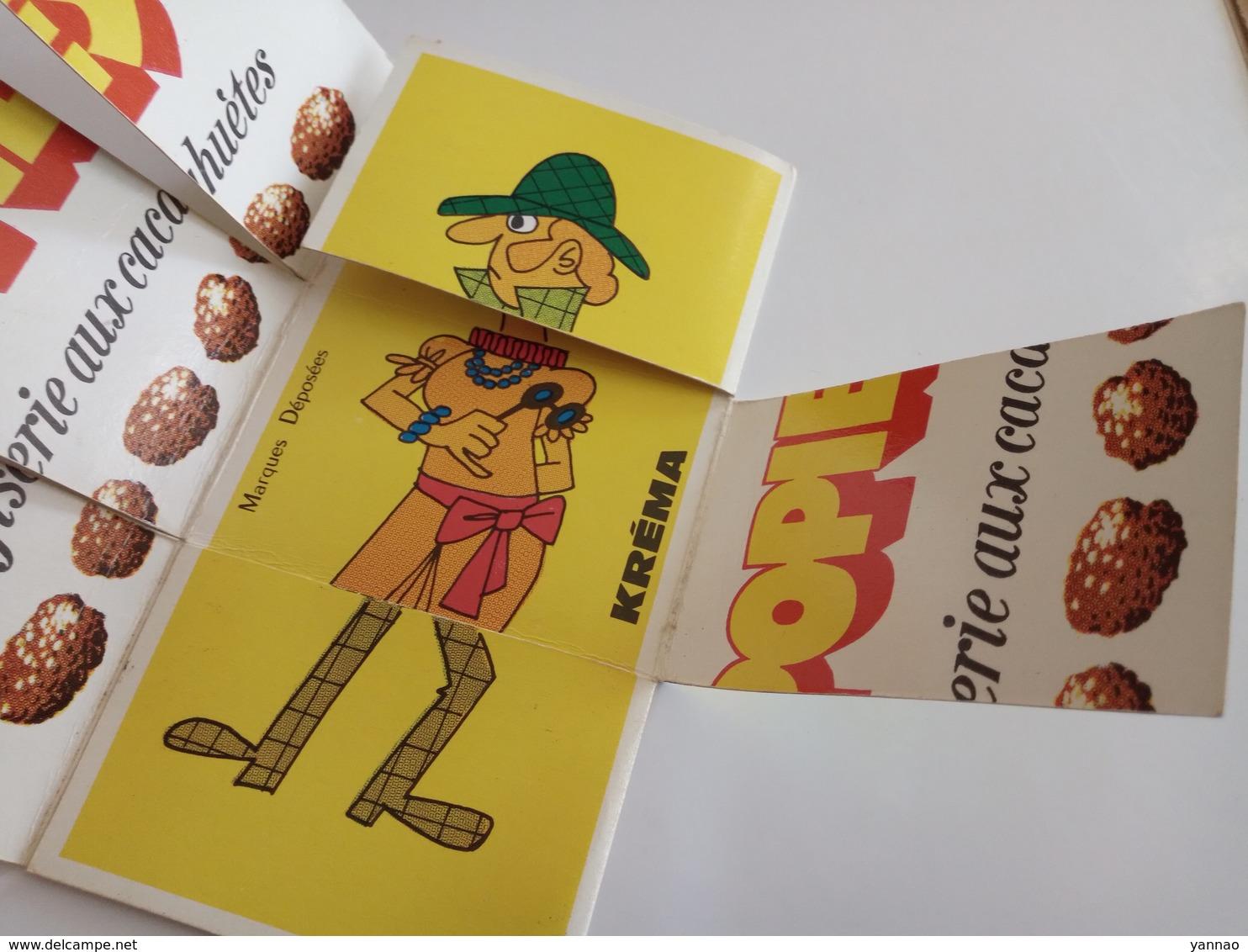 Ancien Dépliant Publicitaire Jeu Confiserie Bonbons Krema Ho' Popies Cacahuètes - Publicités